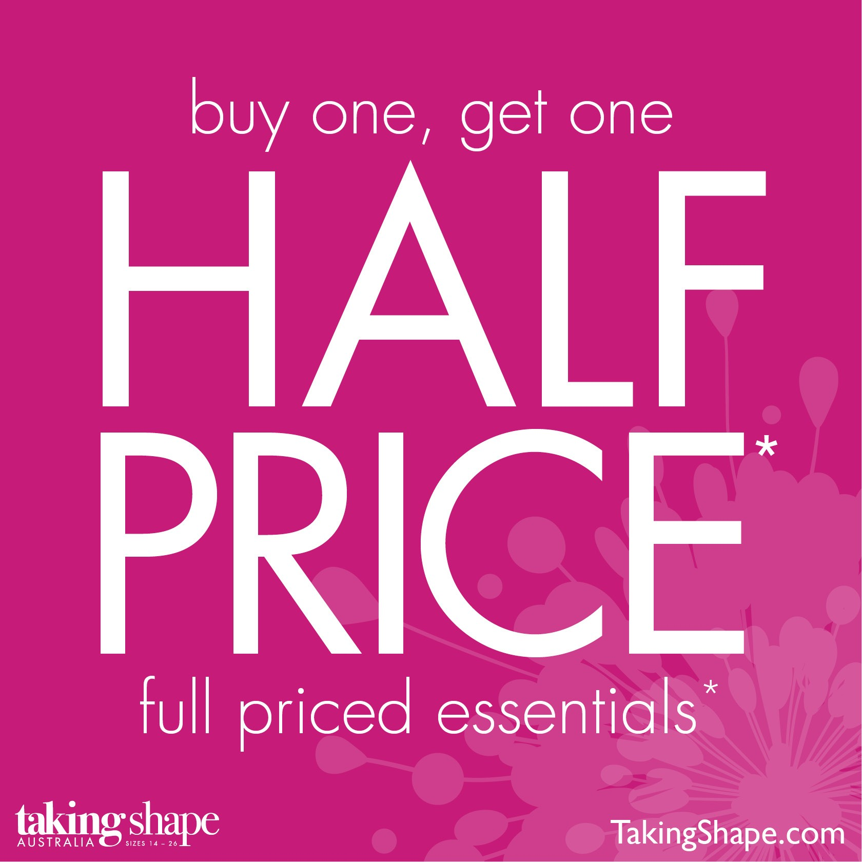 Buy One Get One: Buy One Get One Half Price